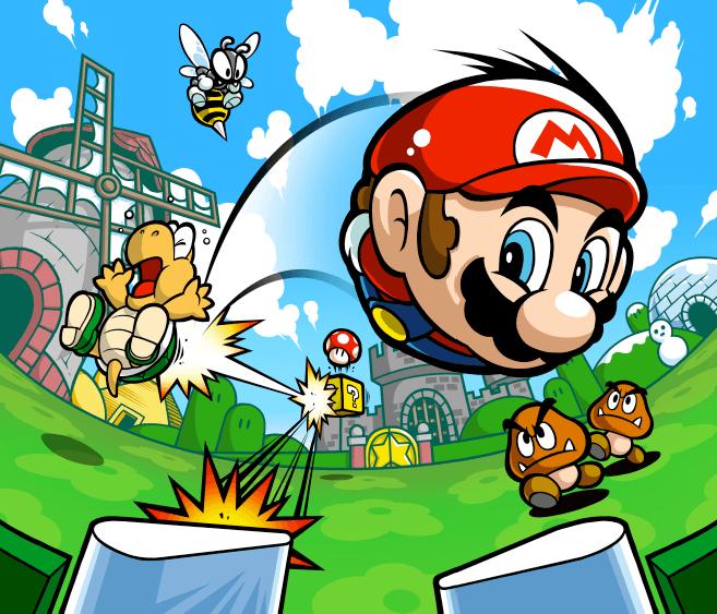 Mario Pinball Land (Game Boy Advance) Artwork Including