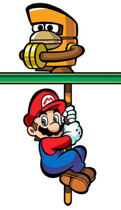 Mario Holding On The Rope