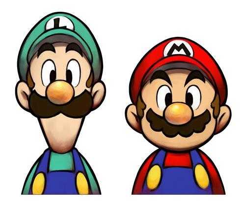 Mario and Luigi torso shot