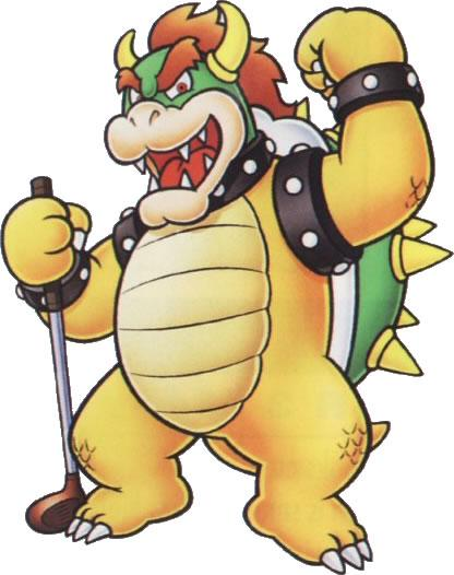 Bowser With Golf Club