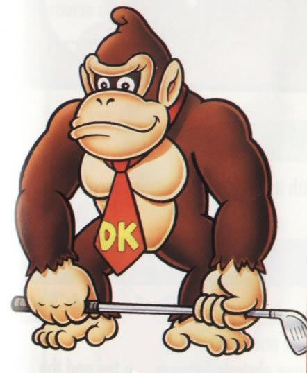 Donkey Kong With Golf Club