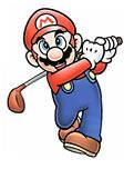 Mario Playing Golf