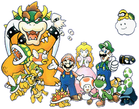 Group Art from Super Mario Bros. Deluxe