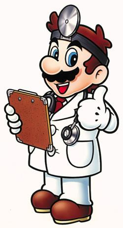 Dr Mario with thumbs-up