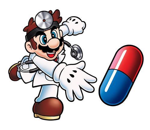 Dr Mario Throwing Pill