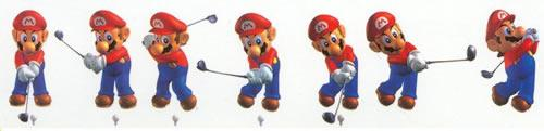 A piece by piece shot of Marios swing