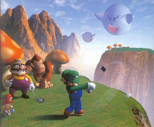 Luigi Wario Donkey Kong and Baby Mario at Boo Valley