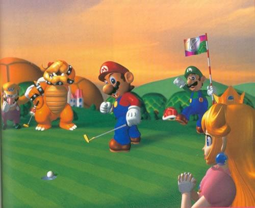 Mario Luigi Peach Wario and Bowser at Koopa Park