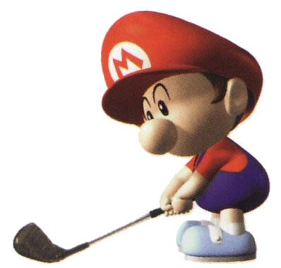 Baby Mario Playing Golf