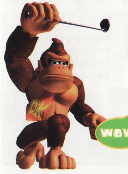 Donkey Kong Playing Golf