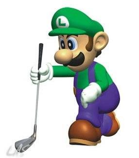 Luigi Playing Golf