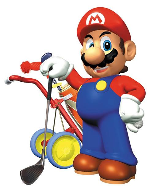 Mario  With Golf Club