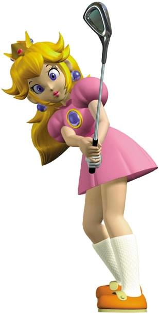 Princess Peach Playing Golf