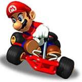 Mario Driving His Kart