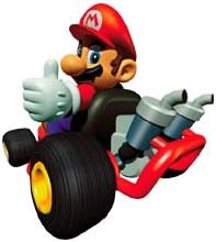 Mario With Thumbs Up In His Kart