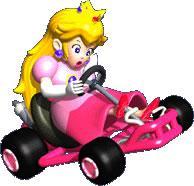 Peach Driving Kart