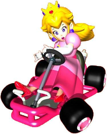 Princess Peach Driving Kart