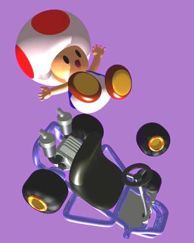 Toad Fall Out His Kart