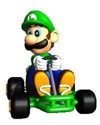 Luigi Driving Kart