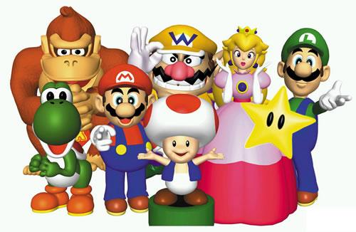 Main group picture of the Mario Party cast