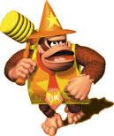 Donkey kong with hammer and funny suit