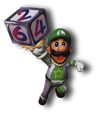 Luigi Touching Number Cube