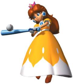 Princess Daisy playing Hey Batter Batter