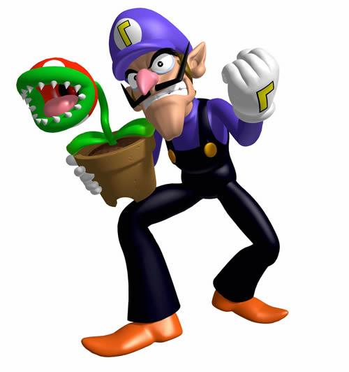 Waluigi with a Piranha Plant from Storm Chasers
