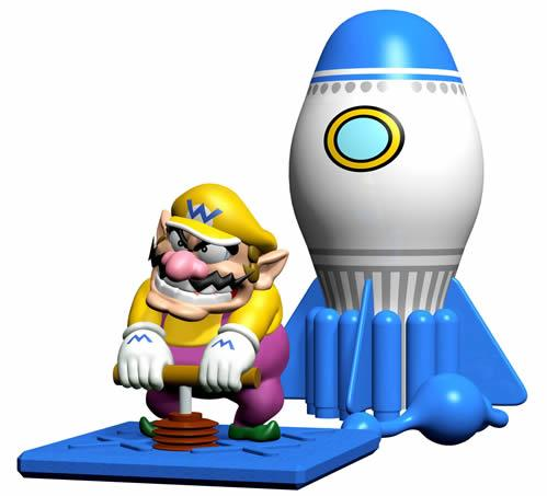 Wario playing Pump Pump and Away