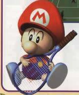 Baby Mario Playing Tennis