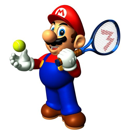 Mario With Racquet And Ball
