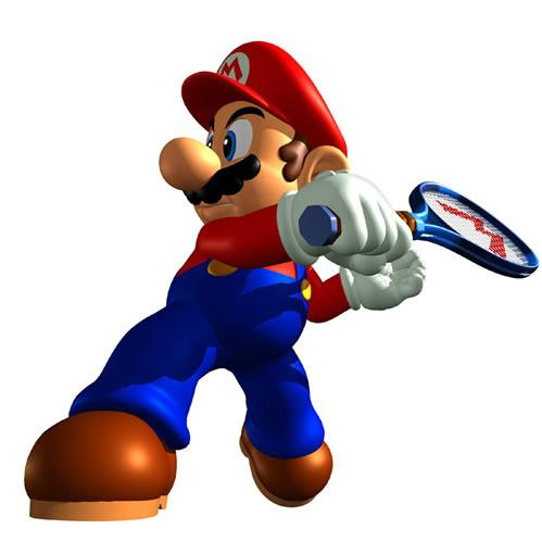 Mario Playing Tennis