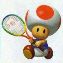 Toad Playing Tennis