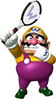 Wario Playing Tennis
