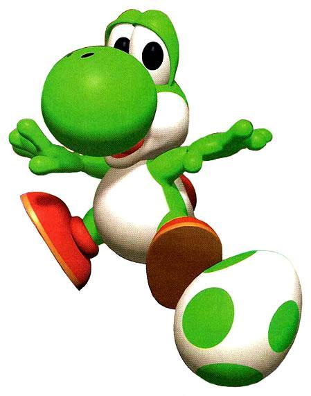 Green Yoshi with a Yoshi Egg
