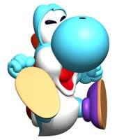 Light Blue Yoshi Ground Pounding