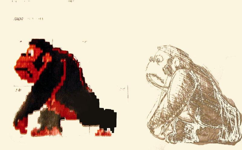 Concept Art for Donkey Kong Walking