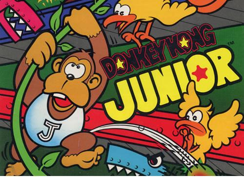 Artwork from the poster for the arcade version of Donkey Kong Jr.