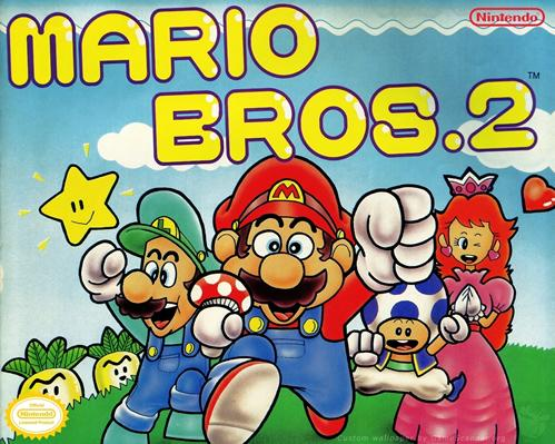 An artwork featuring the main characters of Super Mario Bros. 2