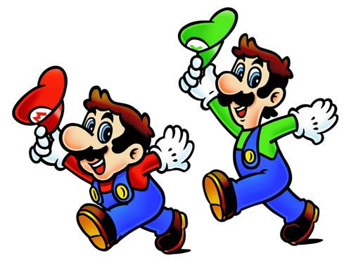 Mario and Luigi tipping their hats