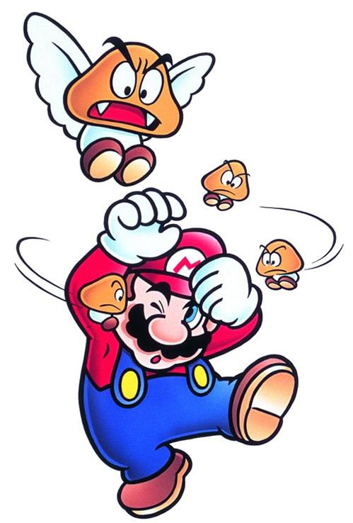 Paragoomba and Micro Goombas Fighting With Mario
