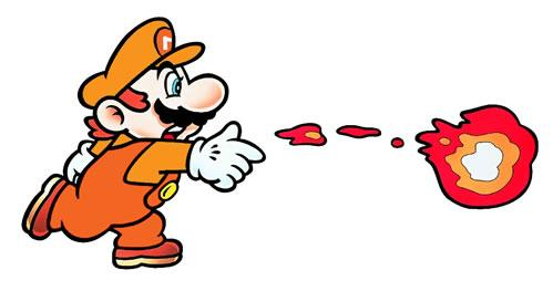 Fire Mario Throwing Flame