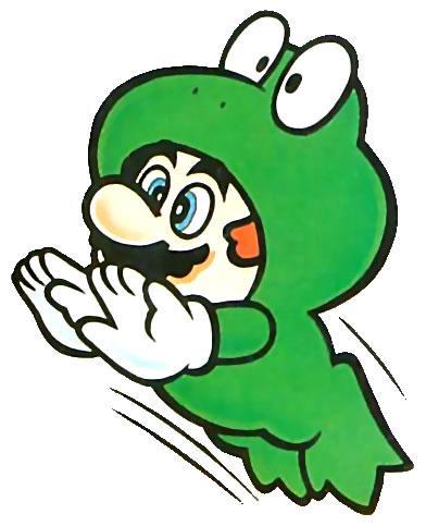 Frog Mario jumping