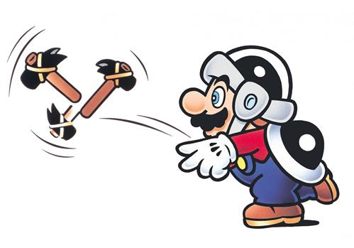 Hammer Mario Throwing Hammer
