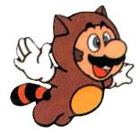 Tanooki Mario flying