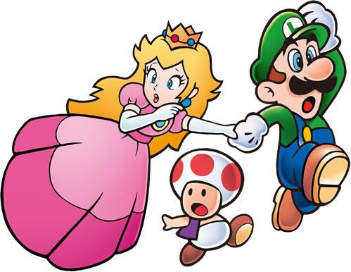 Peach Toad and Luigi