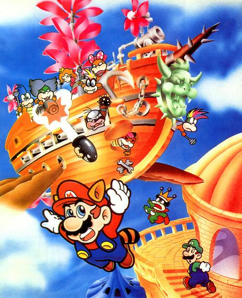 Raccoon Mario being attacked by an Airship Assault