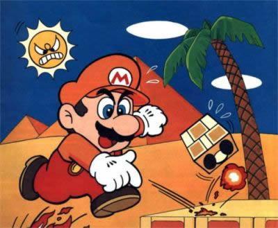 Mario In Desert Land