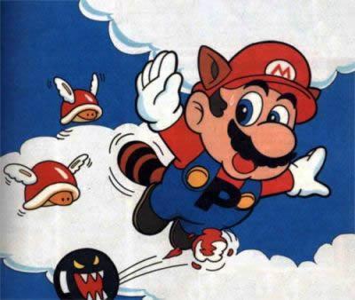 Mario Flying Through Sky Land