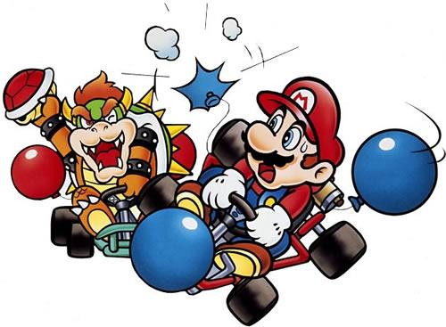 Mario and Bowser battling